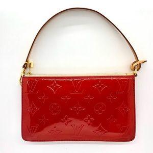 LOUIS VUITTON Red Vernis LV Monogram Lexington Bag